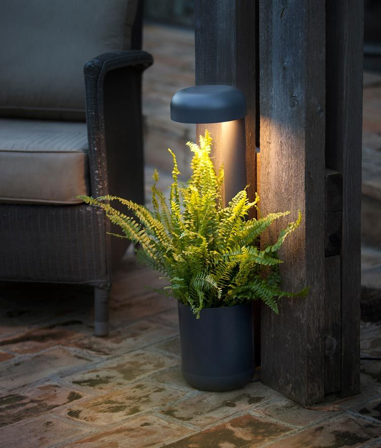 Baliza 65 cm GROW LED gris oscura ambiente