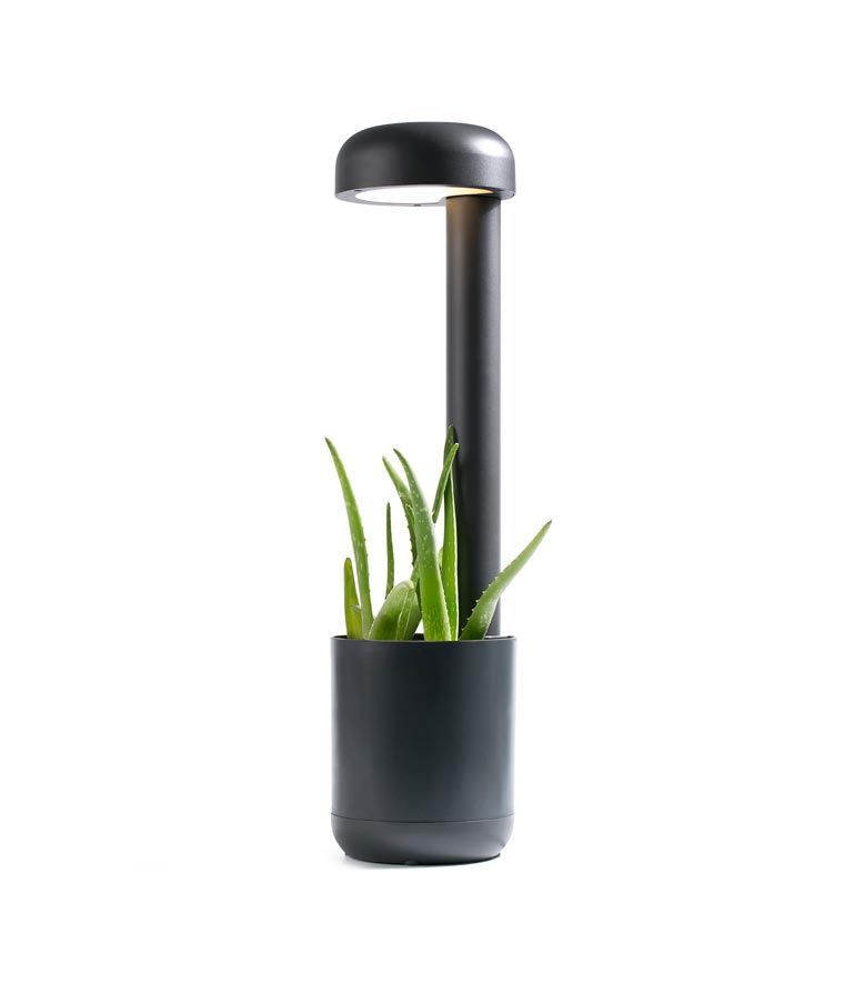 Baliza 65 cm GROW LED gris oscura detalle