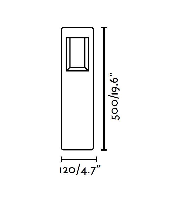 Medidas baliza exterior NAYA LED