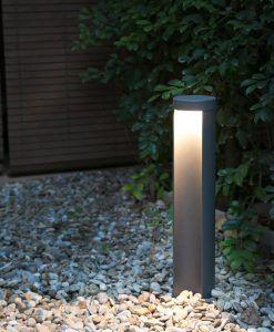 Baliza LED CHANDRA gris oscura ambiente