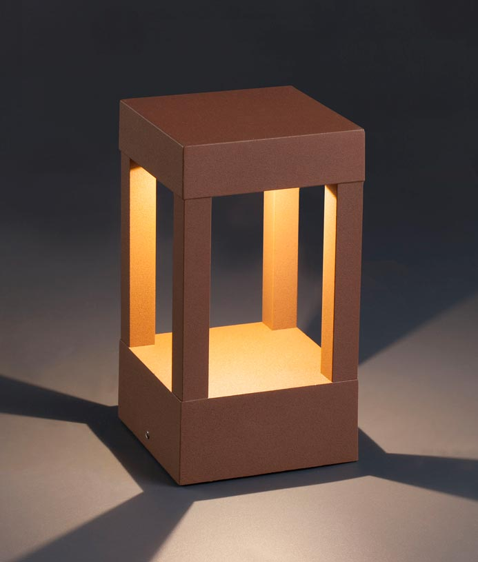 Baliza marrón óxido AGRA LED detalle