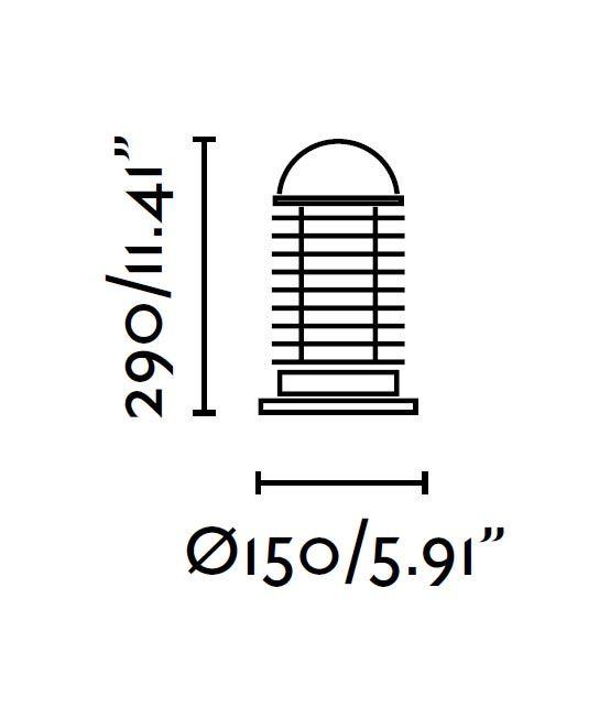 Medidas baliza negra VERNO 29 cm