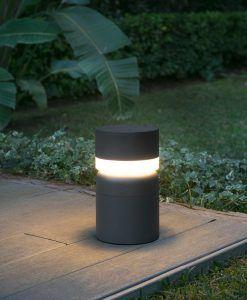 Baliza SETE LED gris oscura ambiente