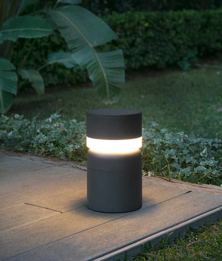 Baliza SETE LED gris oscura ambiente