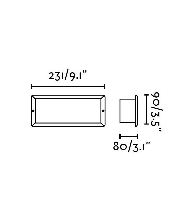 Medidas caja para empotrar modelos ESCA y LISO