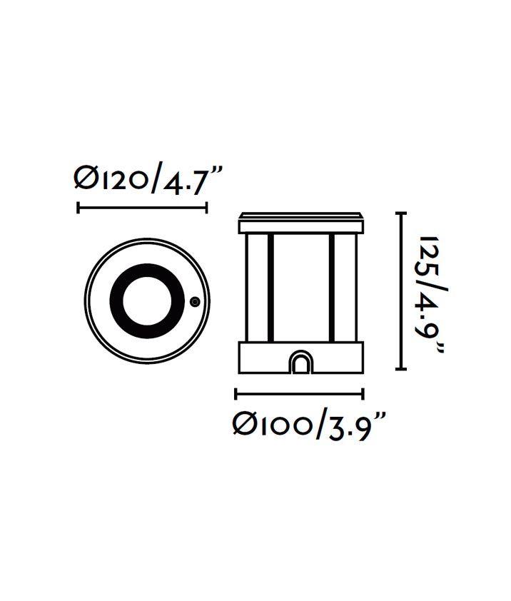 Medidas empotrable inox 50W TECNO-6