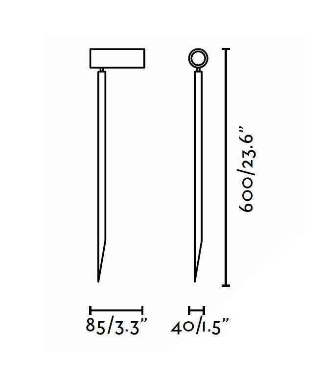 Medidas estaca LED 60 cm SETH