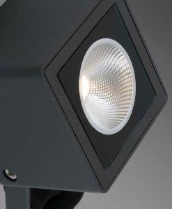 Estaca negra LED SOBEK detalle