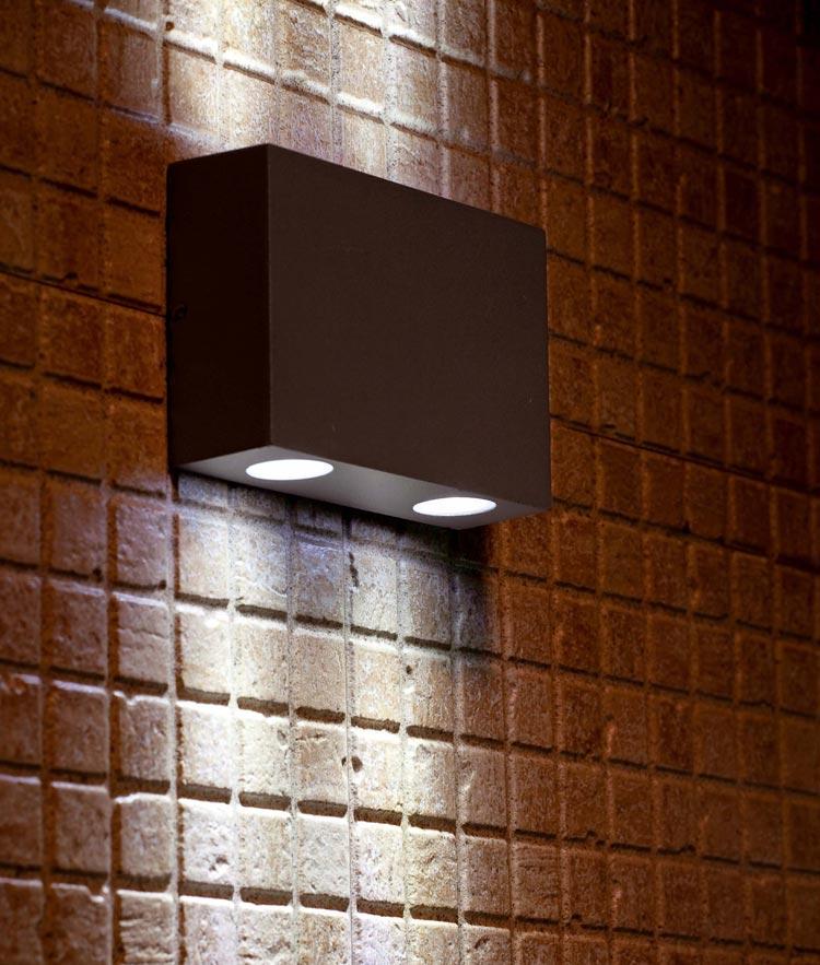 L mpara aplique 2 luces marat led la casa de la l mpara - Lamparas de led para casa ...