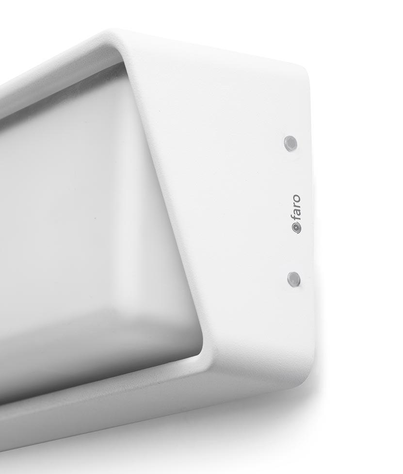 Lámpara aplique blanco HALF LED detalle
