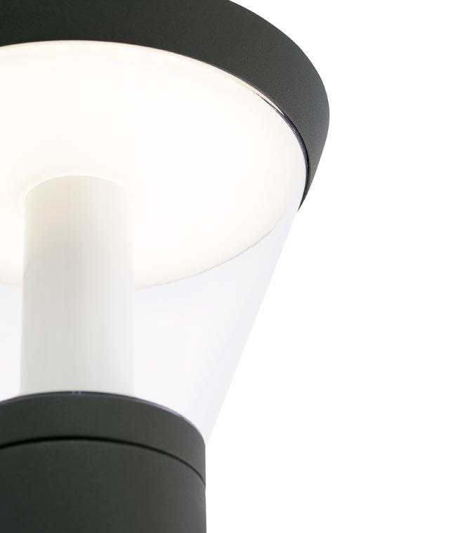Lámpara aplique exterior SHELBY LED detalle