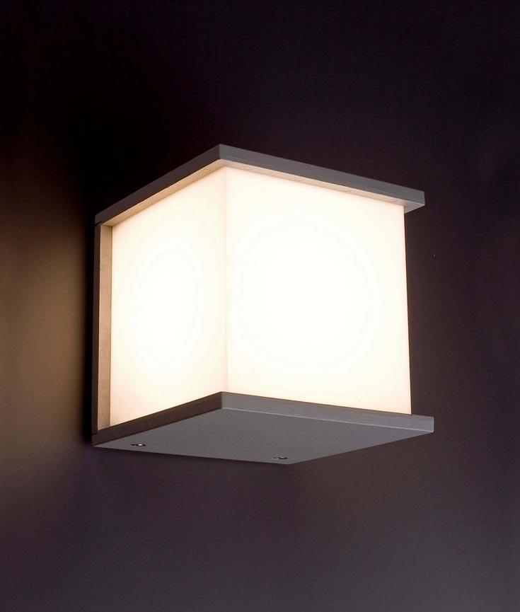 L mpara aplique gris kubick la casa de la l mpara - Casa de lamparas ...