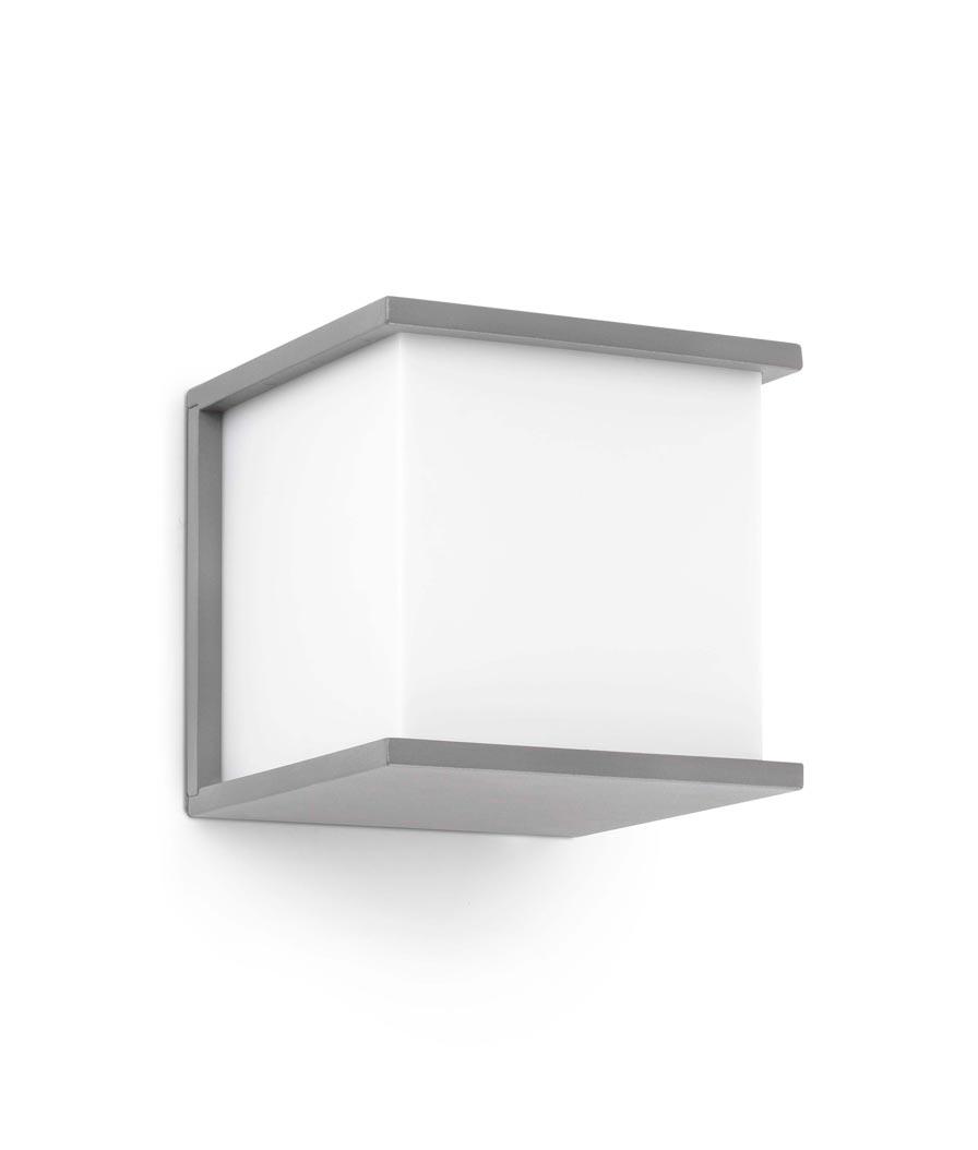 Lámpara aplique gris KUBICK