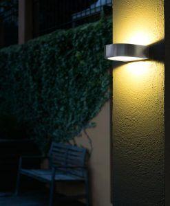 Lámpara aplique inox KAMI LED ambiente