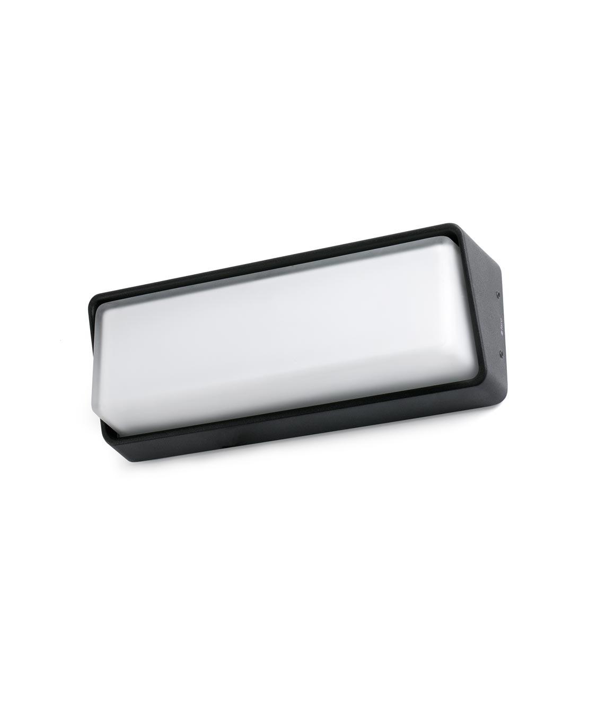 Lámpara aplique negro HALF LED