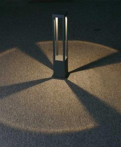 Lámpara baliza AGRA LED gris oscuro detalle
