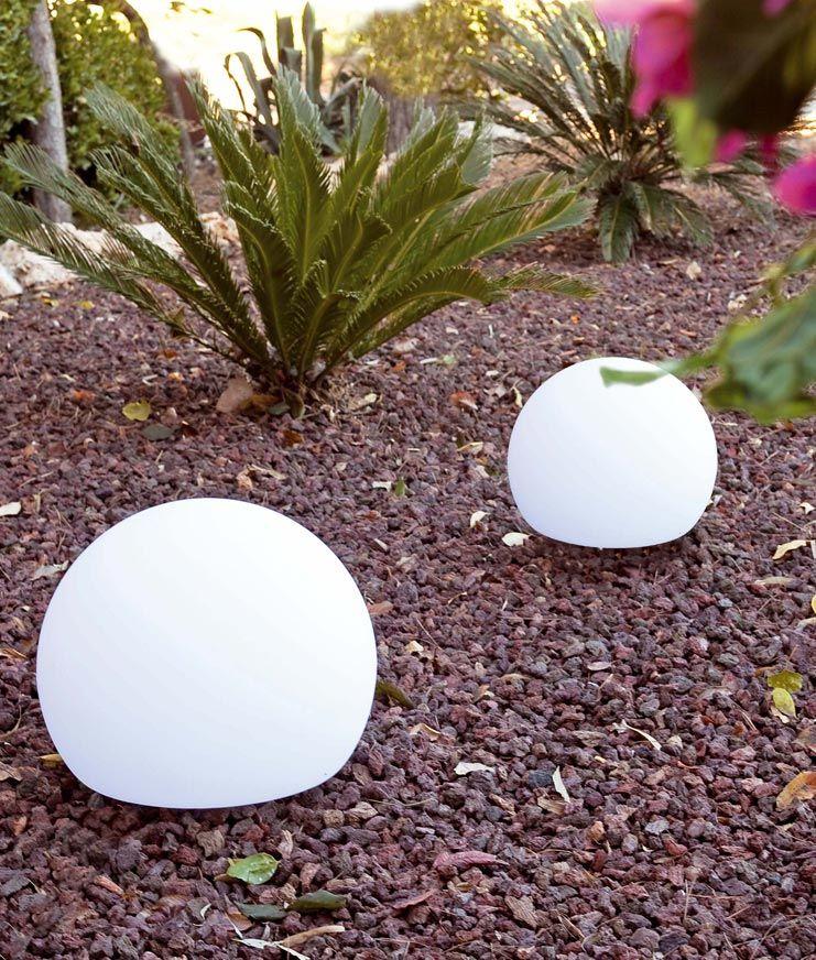 Lámpara portátil grande blanca BALDA ambiente