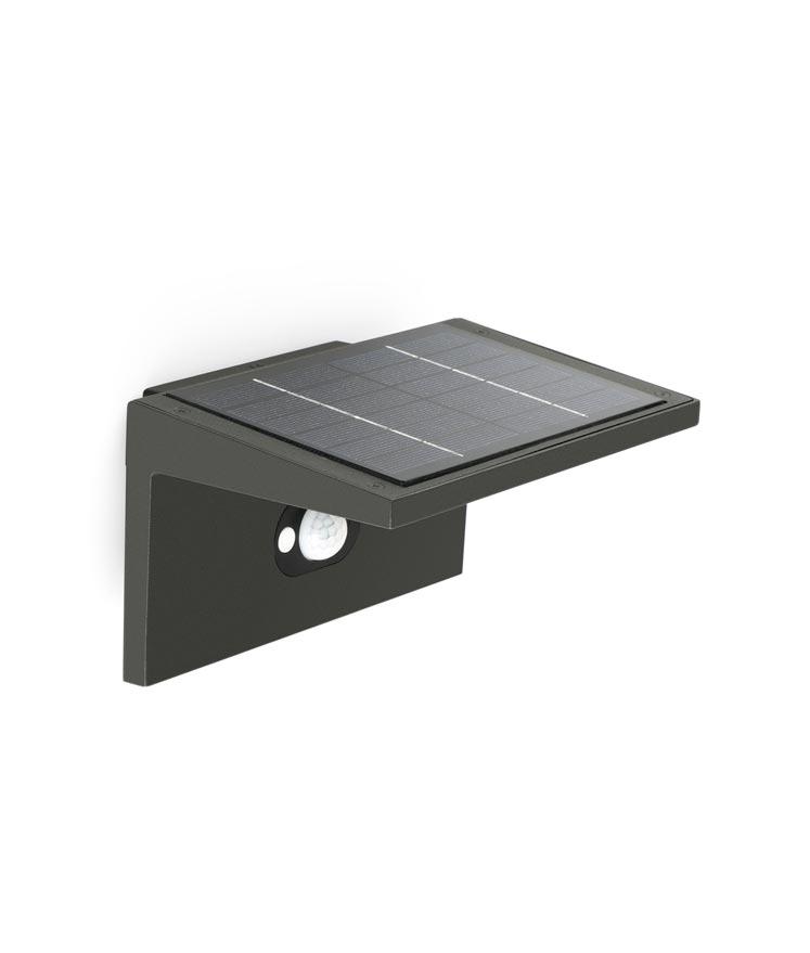 Lámpara solar aplique TEBA detalle