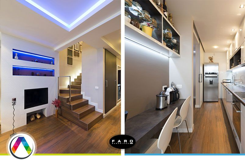 tiras led para interior en la casa de la lmpara with iluminacion led para interiores