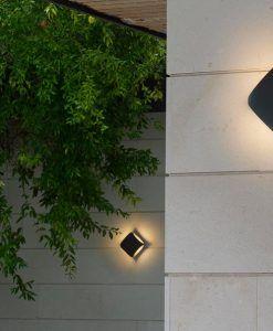 Aplique para exterior LED BU-OH gris oscuro ambiente
