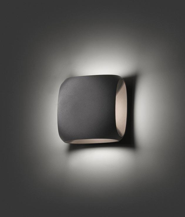 Aplique para exterior LED BU-OH gris oscuro detalle
