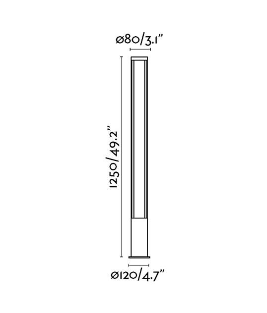 Medidas baliza de exteriores GROP LED