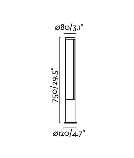 Medidas baliza exterior GROP LED