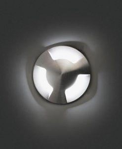 Empotrable de diseño níquel KANE-3 LED detalle