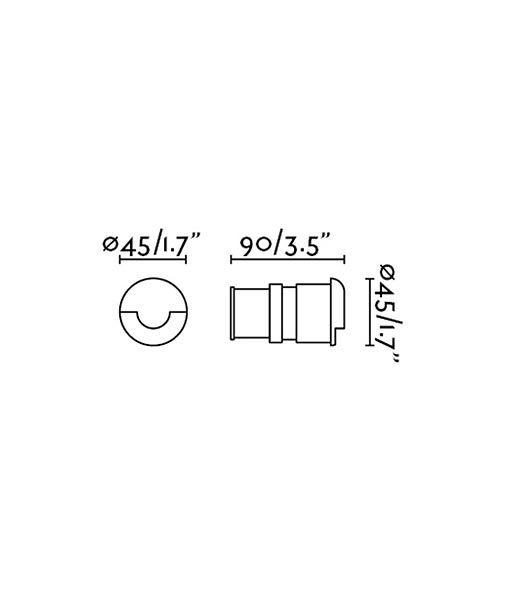 Medidas empotrable de exterior KANE-1 LED