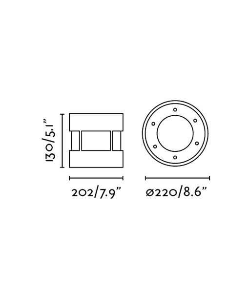Medidas empotrable de suelo SURIA-24 LED
