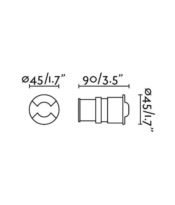 Medidas empotrable moderno níquel KANE-2 LED
