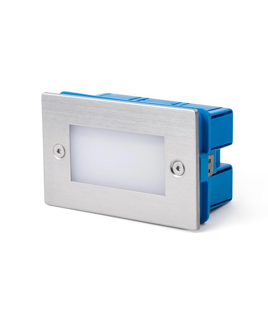 Empotrable níquel mate GRON LED detalle caja