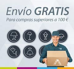 Envíos gratis de tu pedido a partir de 100€ en La Casa de la Lámpara