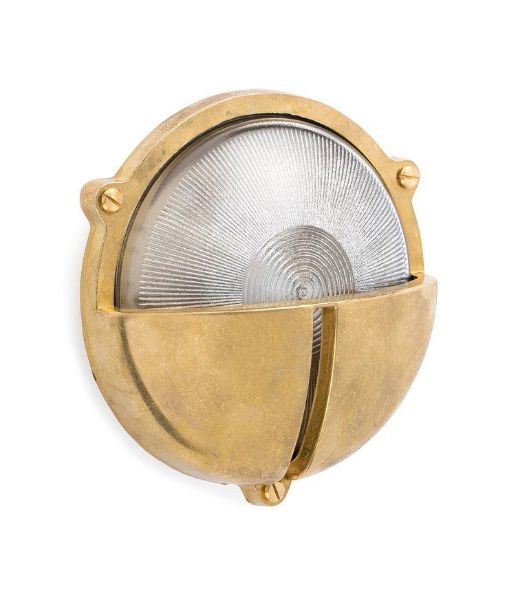 Lámpara aplique latón TIMON detalle