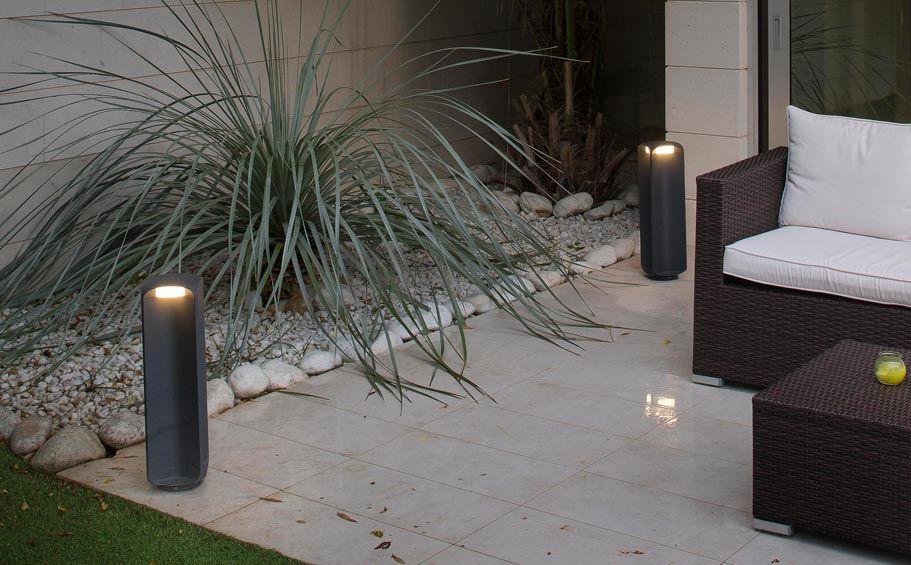 Lámpara baliza gris oscura LED BU-OH ambiente 2