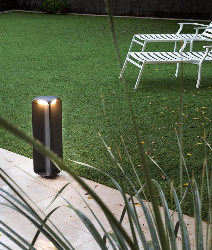 Lámpara baliza gris oscura LED BU-OH ambiente