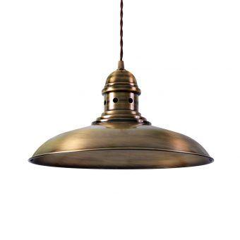 Lámpara colgante oro envejecido DORTMUND