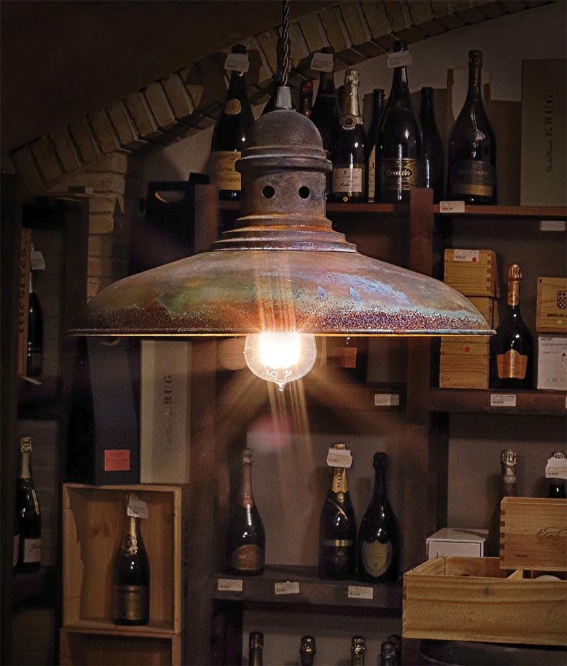 Lámpara colgante óxido DORTMUND ambiente