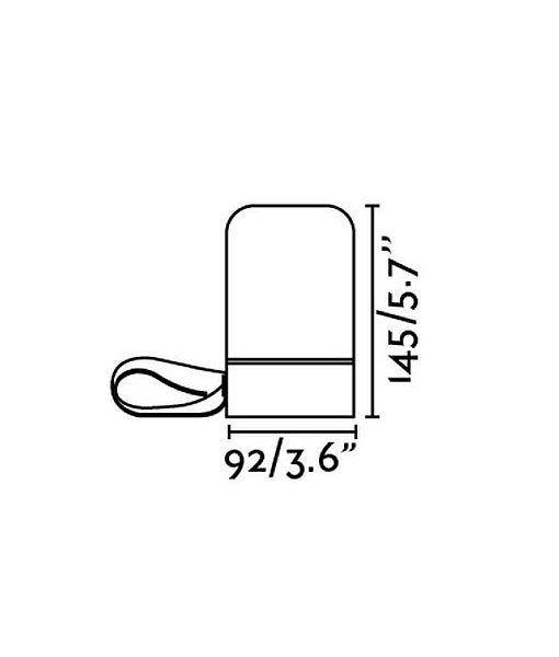 Medidas lámpara con altavoz portátil LOUD LED