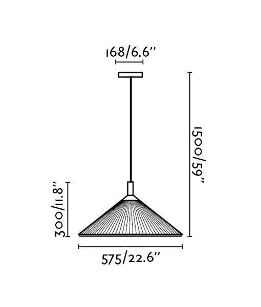 Medidas lámpara de techo exterior HUE