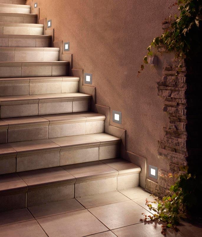 Lámpara empotrable níquel FROL LED ambiente