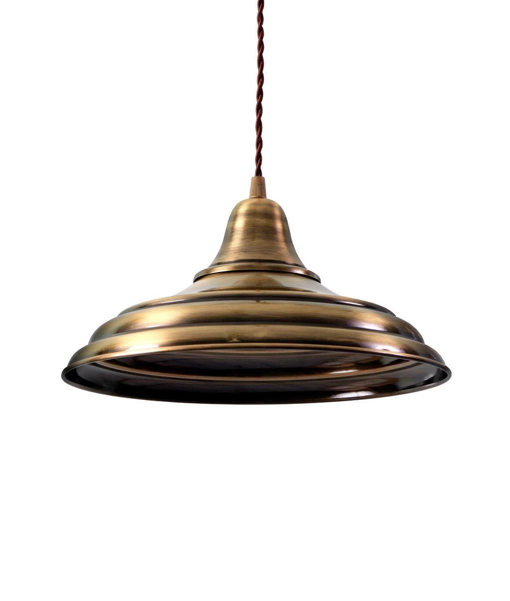 Lámpara industrial oro envejecido HANNOVER