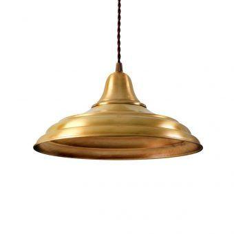 Lámpara industrial oro HANNOVER