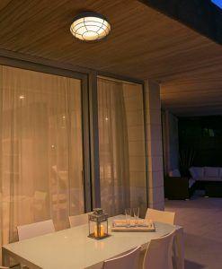 Lámpara plafón exterior marrón óxido HELMET ambiente