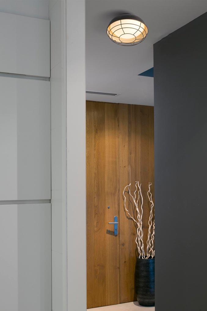 Lámpara plafón exterior marrón óxido HELMET ambiente 2