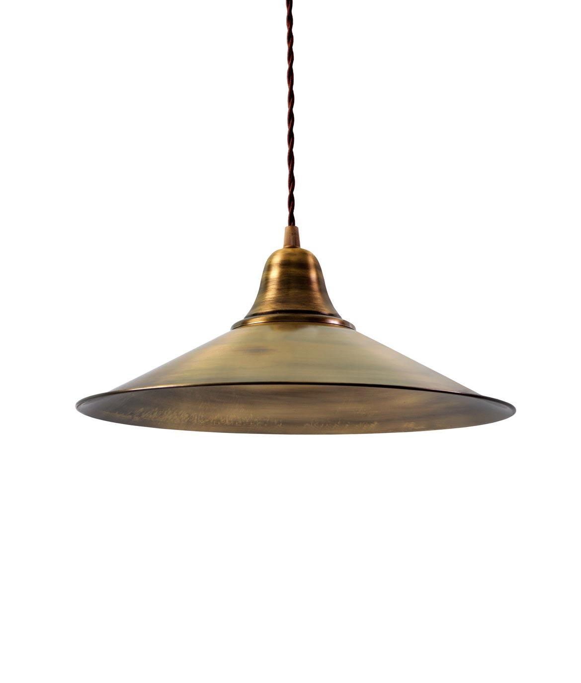 Lámpara retro/vintage oro envejecido KÖLN
