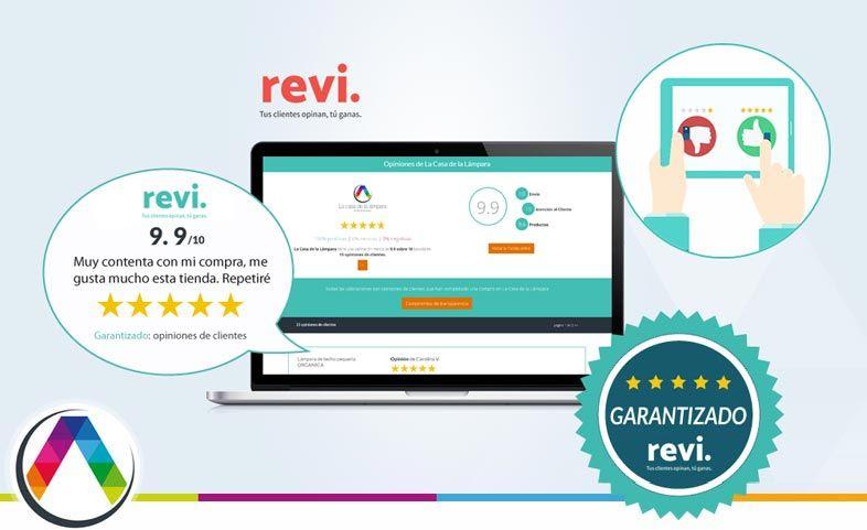 Opiniones reales de clientes 100% garantizado con REVI en La Casa de la Lámpara