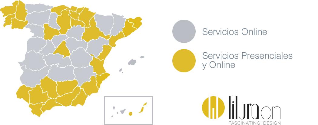 Servicios Liluraon a nivel nacional - La Casa de la Lámpara