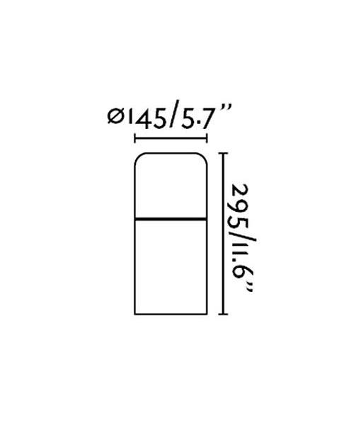 Medidas sobremuro clásico MUGA LED