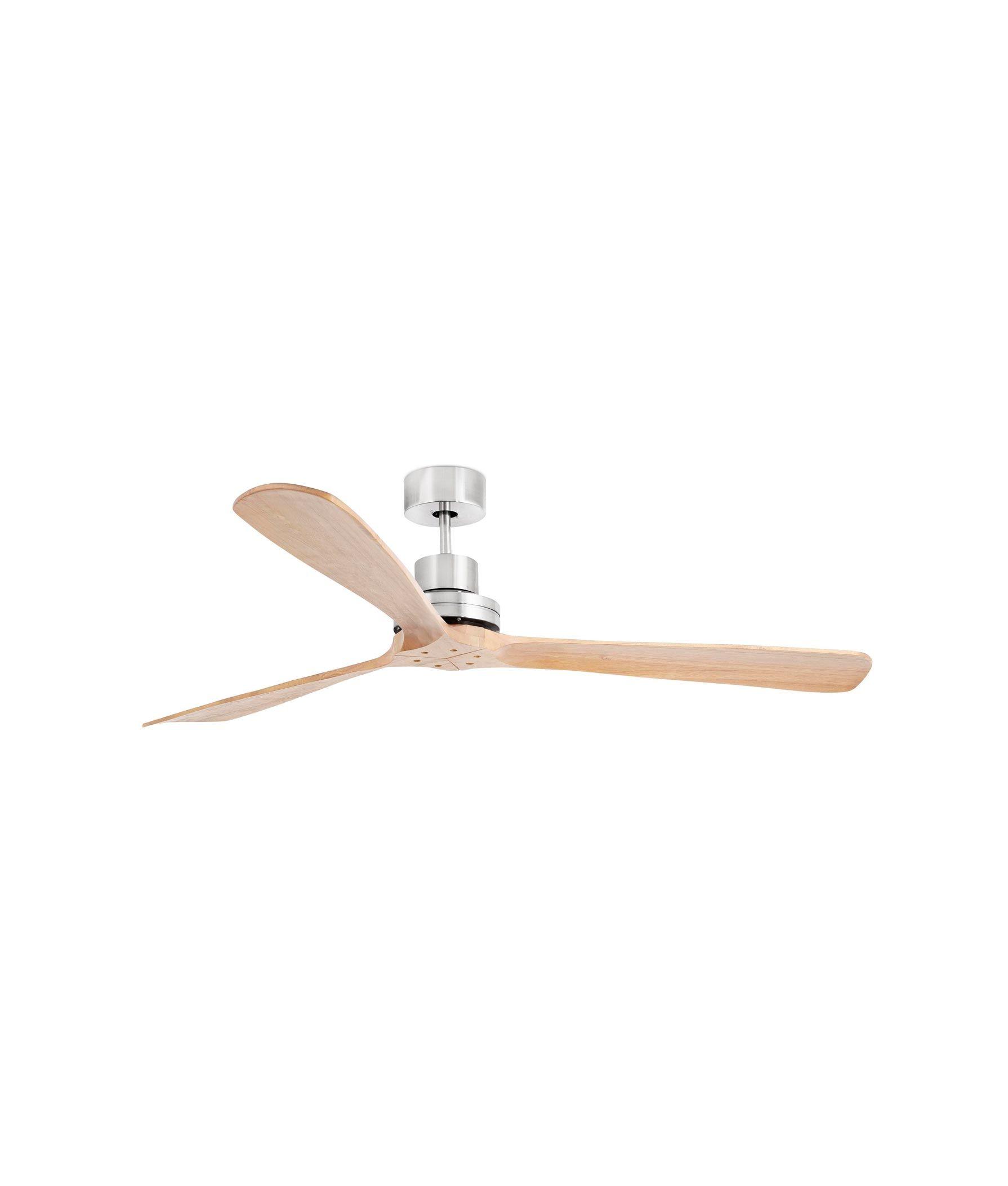 Ventilador grande níquel y pino LANTAU-G
